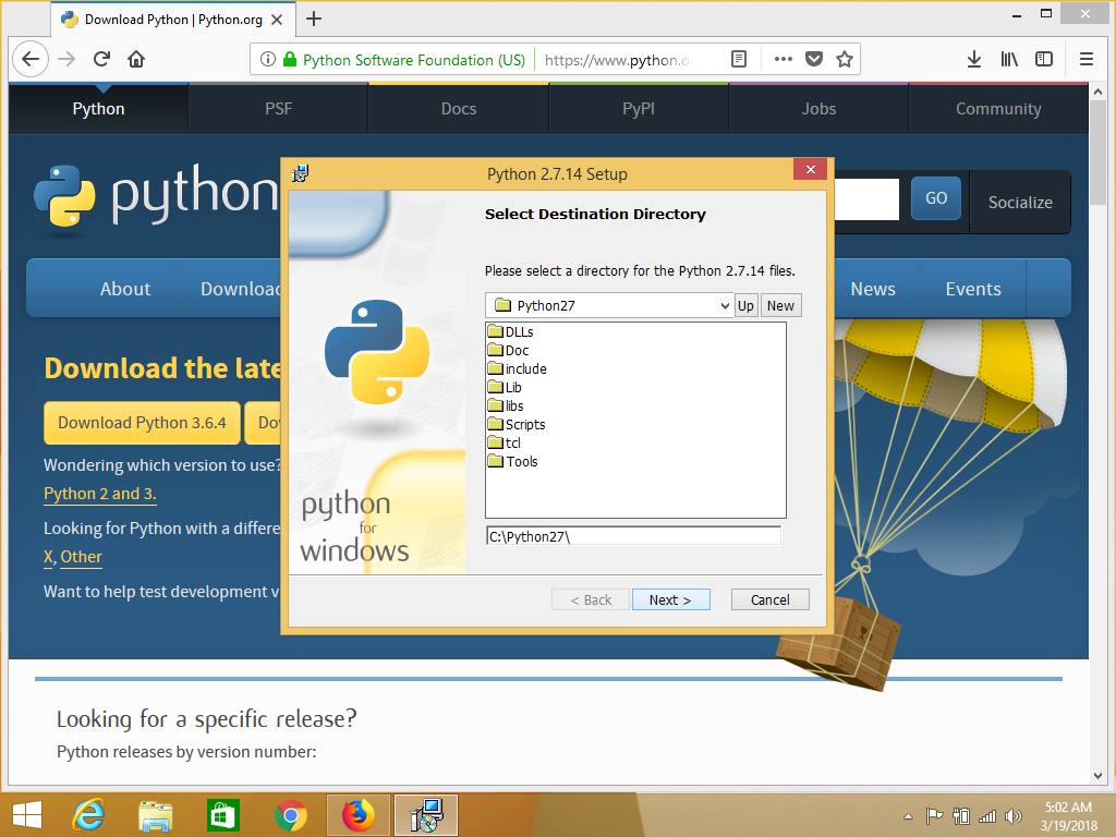 how to set up python on windows 10