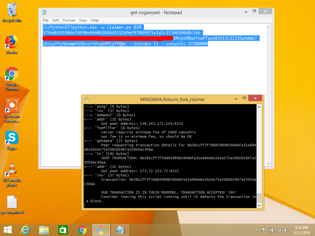 How To Run The bitcoin_fork_claimer Script From A Windows System